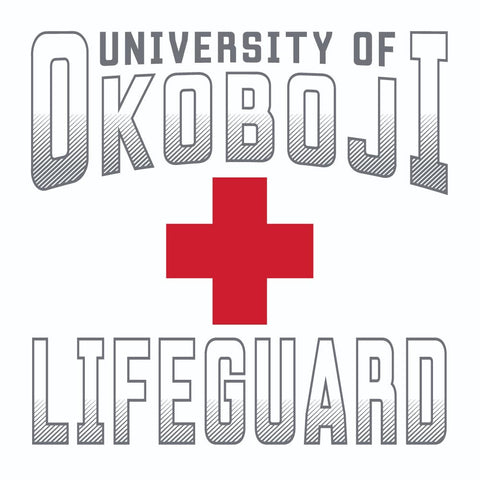 University of Okoboji White Lifeguard Tee