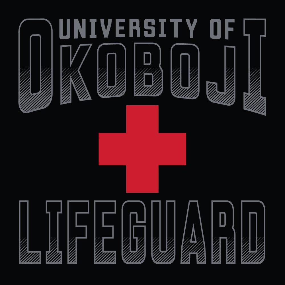 University of Okoboji Black Lifeguard Tee