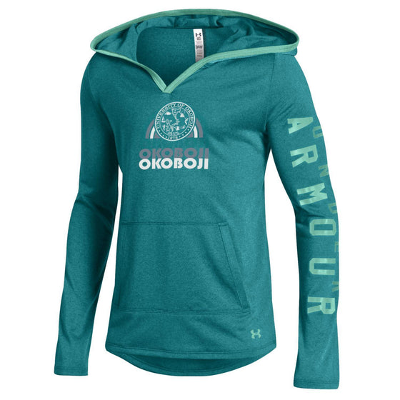 Girls Light Weight Tech Pullover - Tahitian Teal