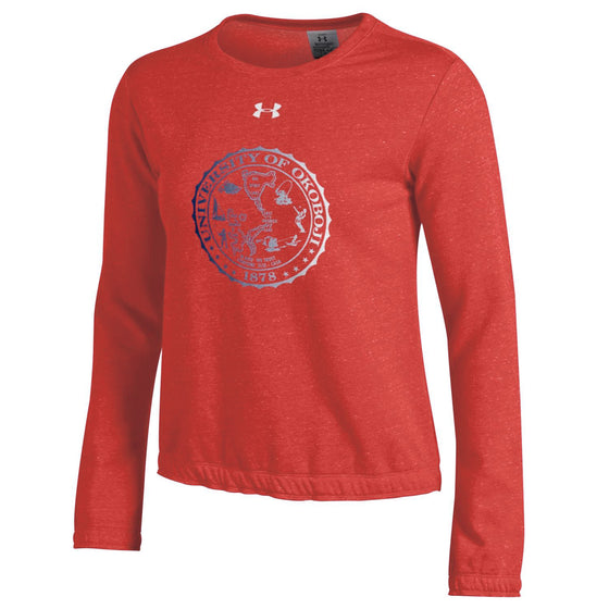 Ladies University of Okoboji Crest Levity Crew - Red