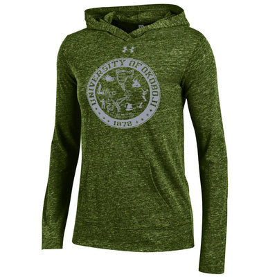 Women's Under Armour Triblend Hoodie - Artillery Green