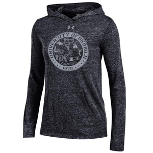 Women's Classic Under Armour Triblend Hoodie - Black