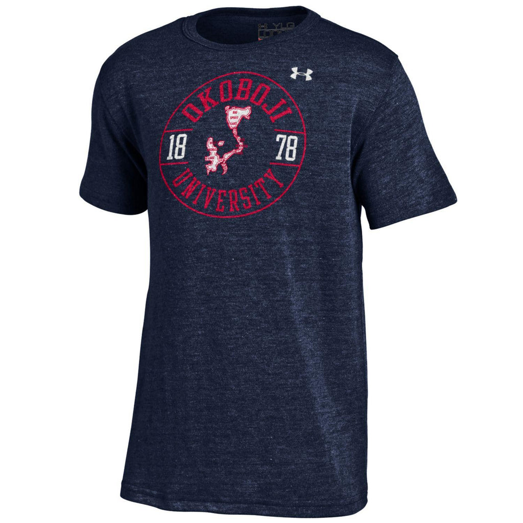Boys Okoboji Triblend Tee - Midnight Navy