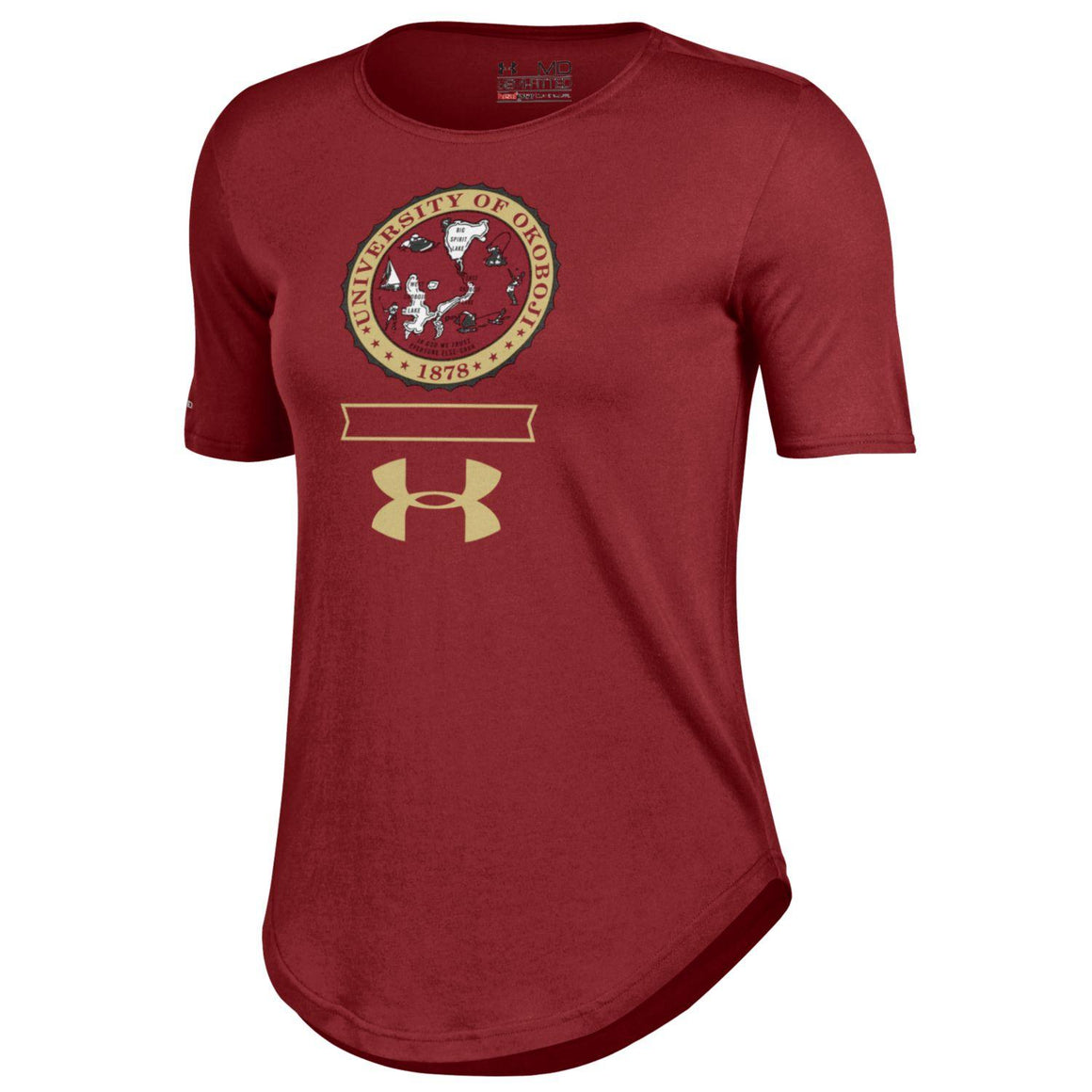 University of Okoboji Women's 60 40 Under Armour Tee
