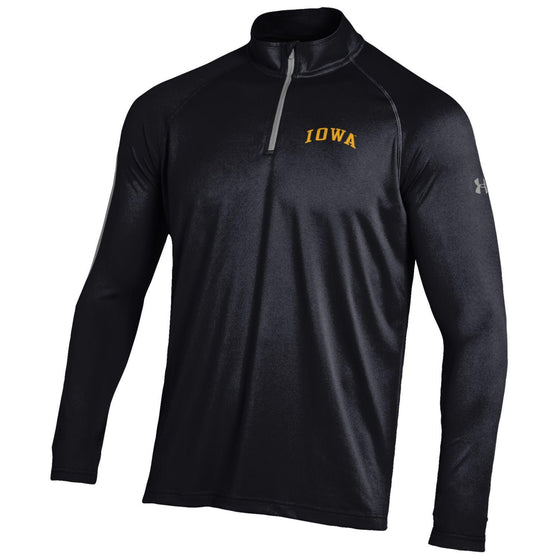 Iowa Tech Tee 1/4 Zip - Black