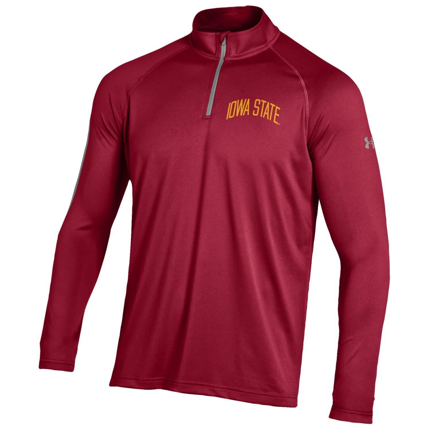 Iowa State Tech Tee 1/4 Zip - Crimson