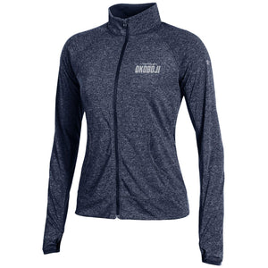 Ladies Ultimate Tech Limitless Under Armour Full Zip-Midnight Navy