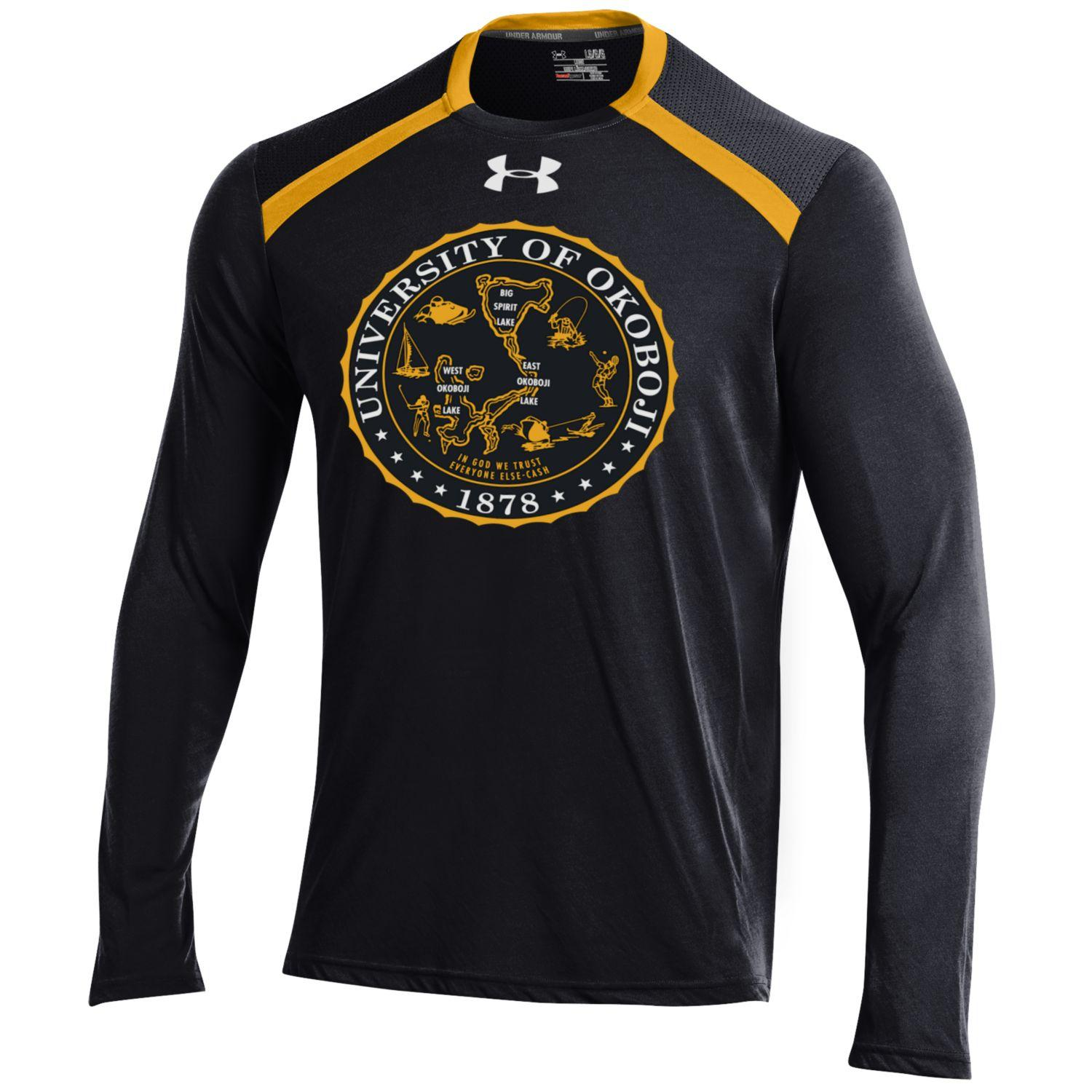 Under Armour Threadborne Black and Gold Longsleeve