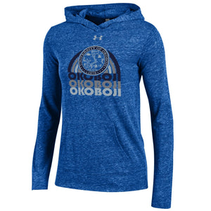 Ladies Lightweight Under Armour Triblend Hoodie-Royal Blue