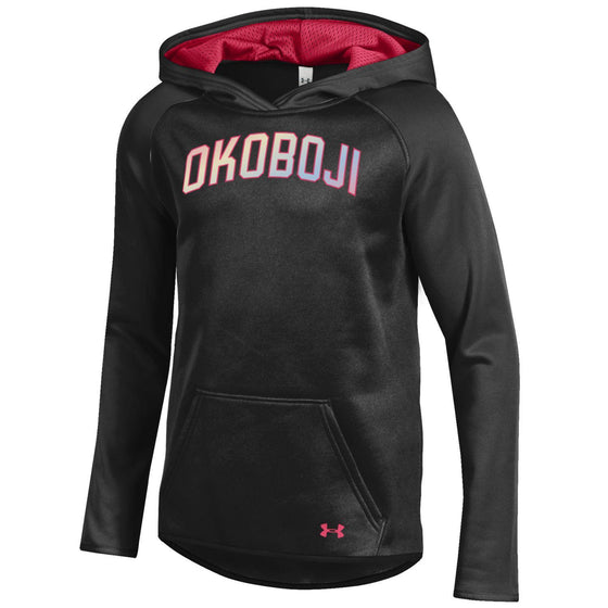 Girls Okoboji 2017 Fleece Hoody - Black / Pink