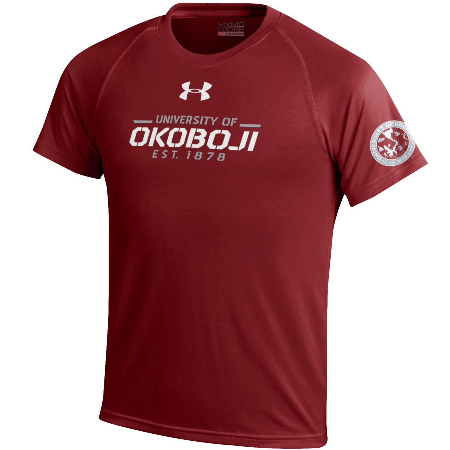 University of Okoboji Under Armour Maroon Youth Performance Tee