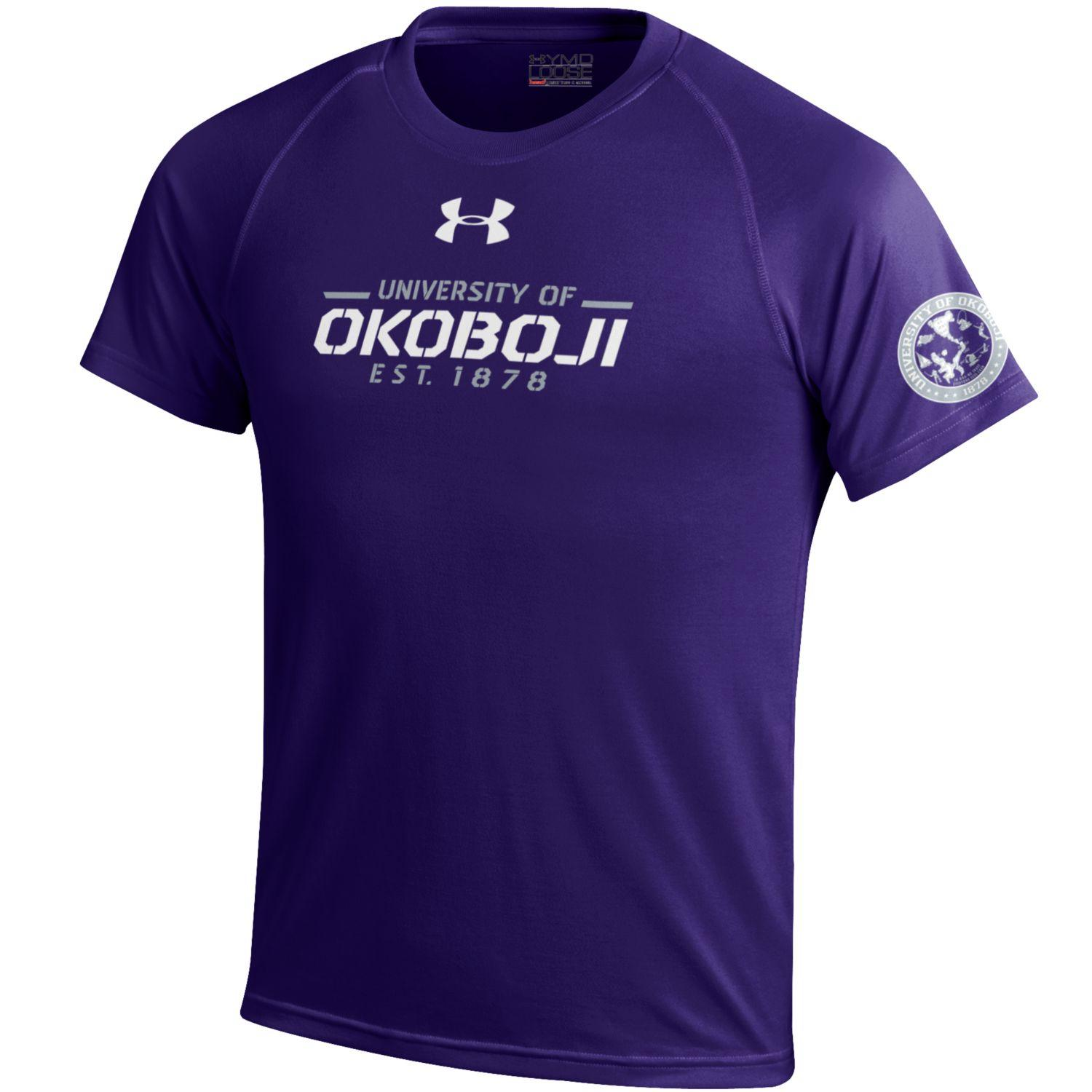 University of Okoboji Under Armour Purple Youth Performance Tee