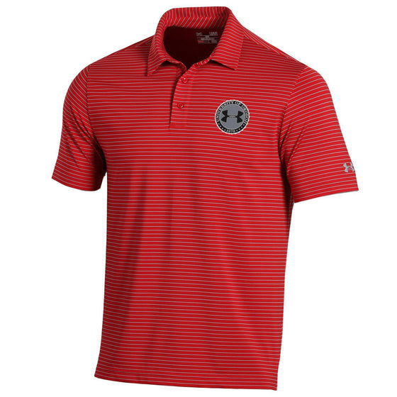 Under Armour Playoff Stripe Polo - Red