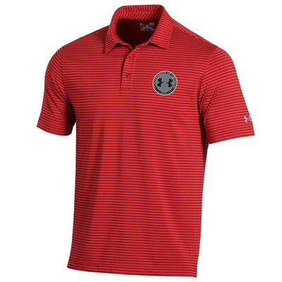Under Armour Playoff HeatGear® Stripe Polo - Red