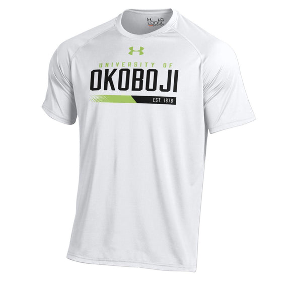 University of Okoboji White High Viz Tech Tee
