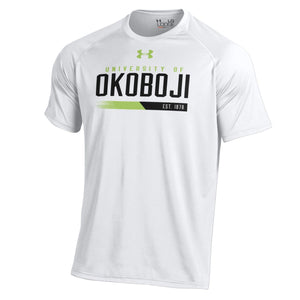 University of Okoboji White Tech Tee