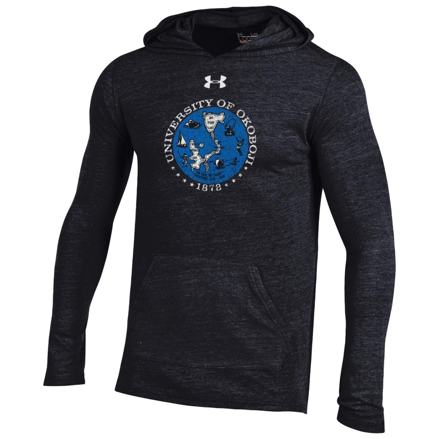 78 Classic Light Weight Triblend Hood - Black/Royal