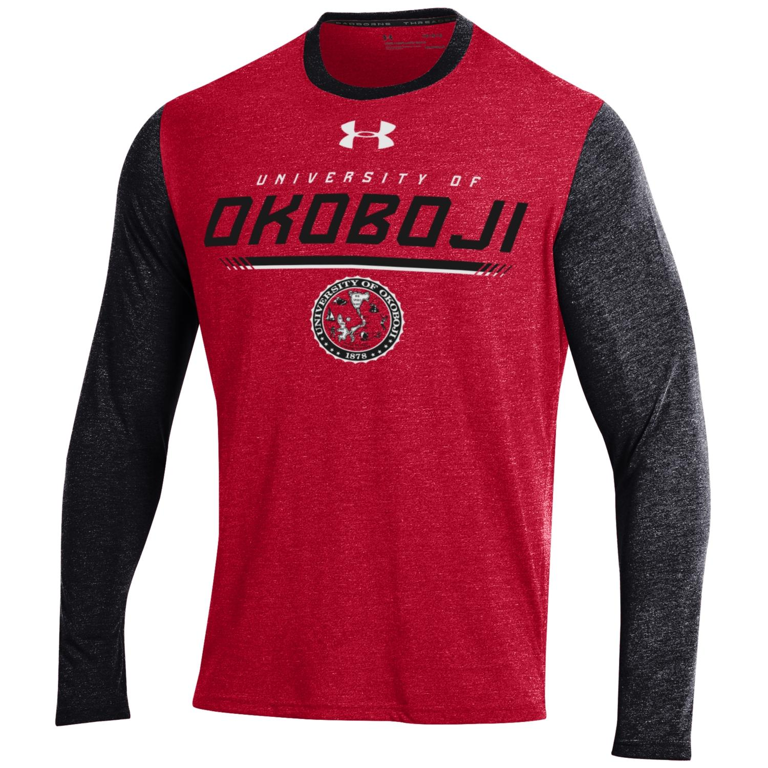 Okoboji Threadborne LS Tee - Red/Black