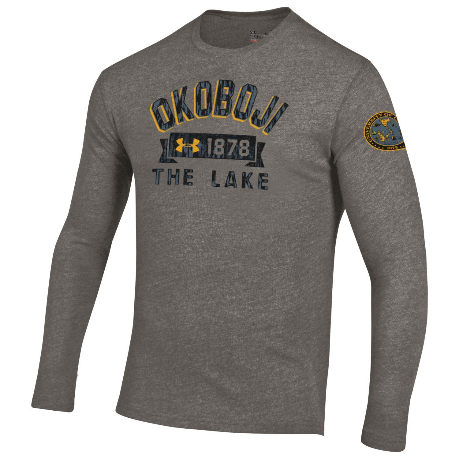"""The Lake"" Triblend Long Sleeve Tee - Legacy Grey"