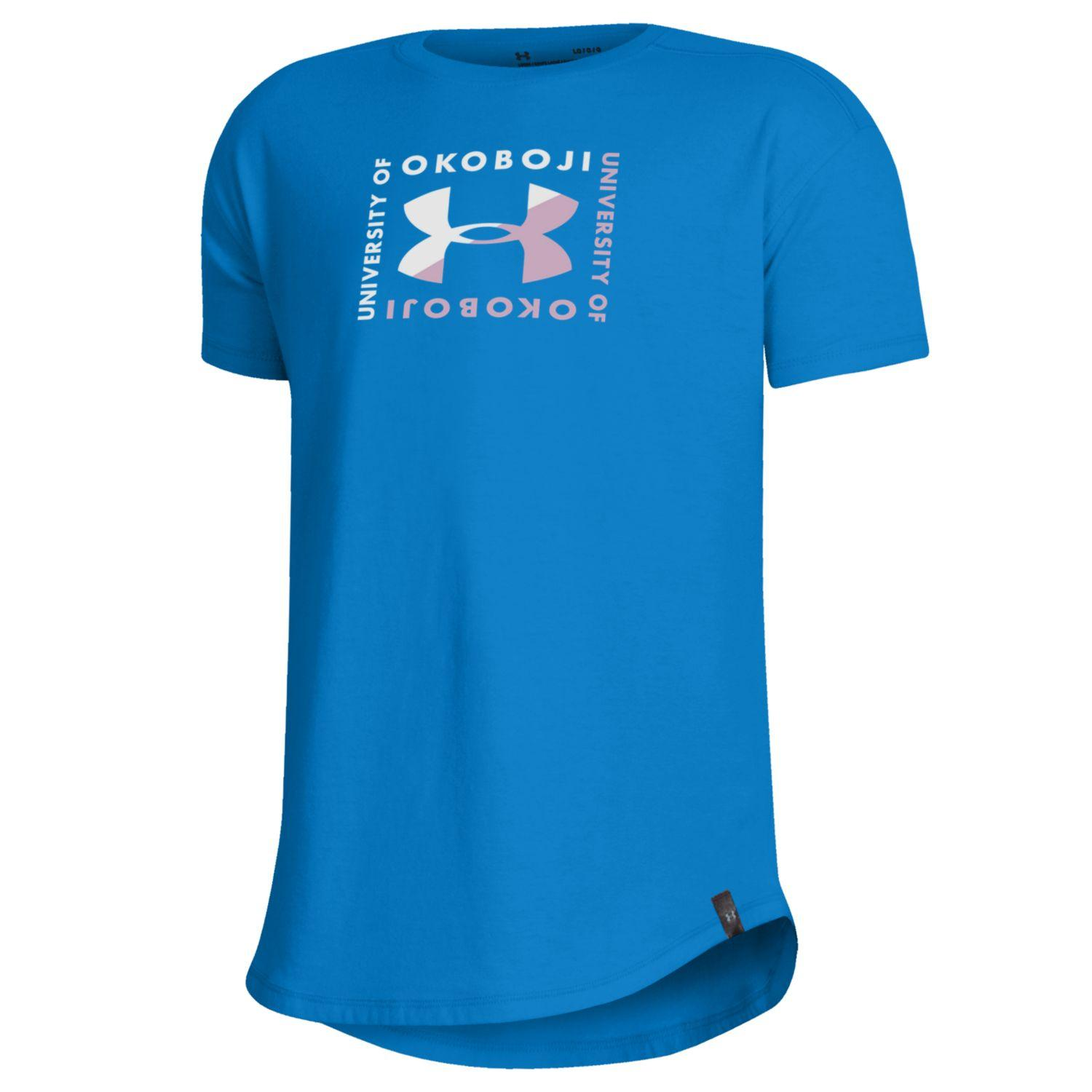 Girls Performance Cotton Tee - Power Keg Blue