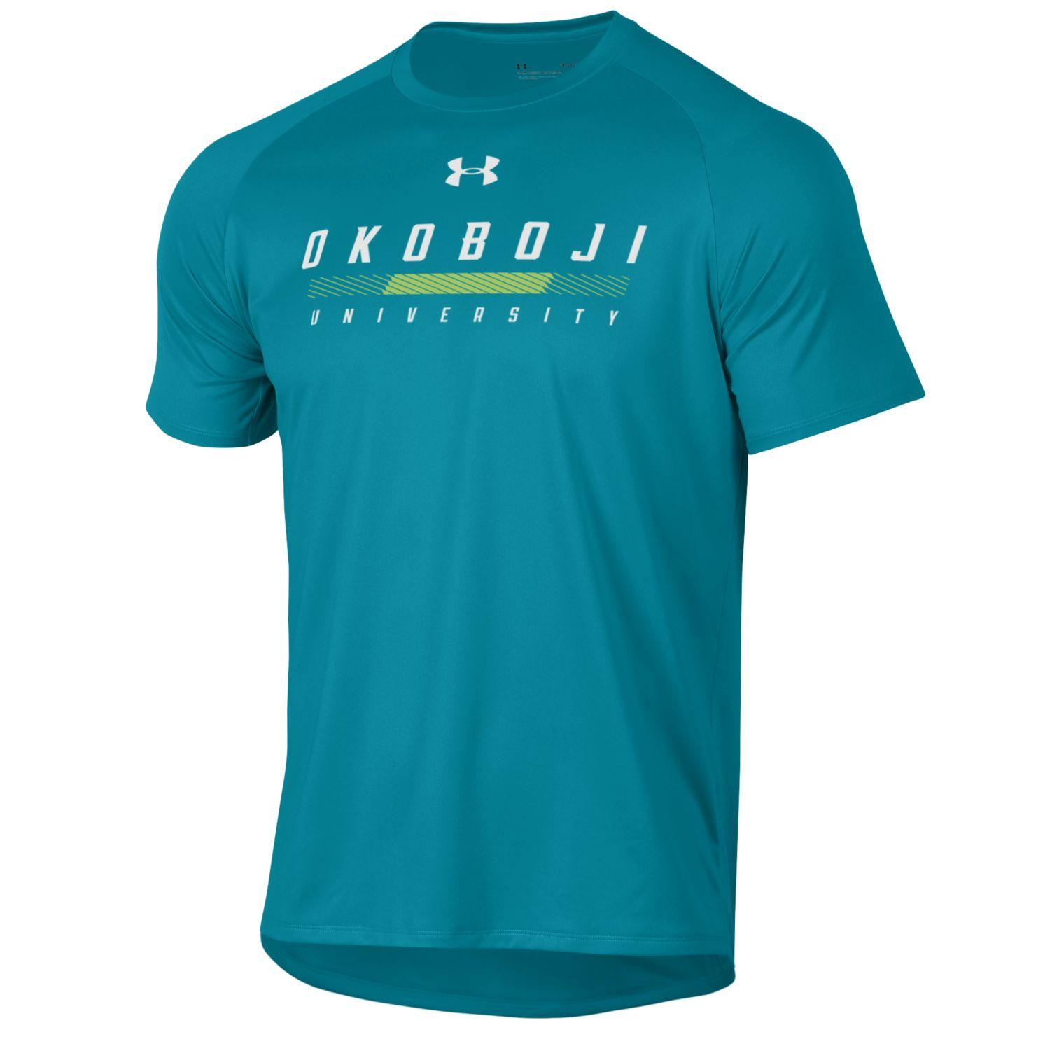 Okoboji Costal Teal Tech Short Sleeve Tee