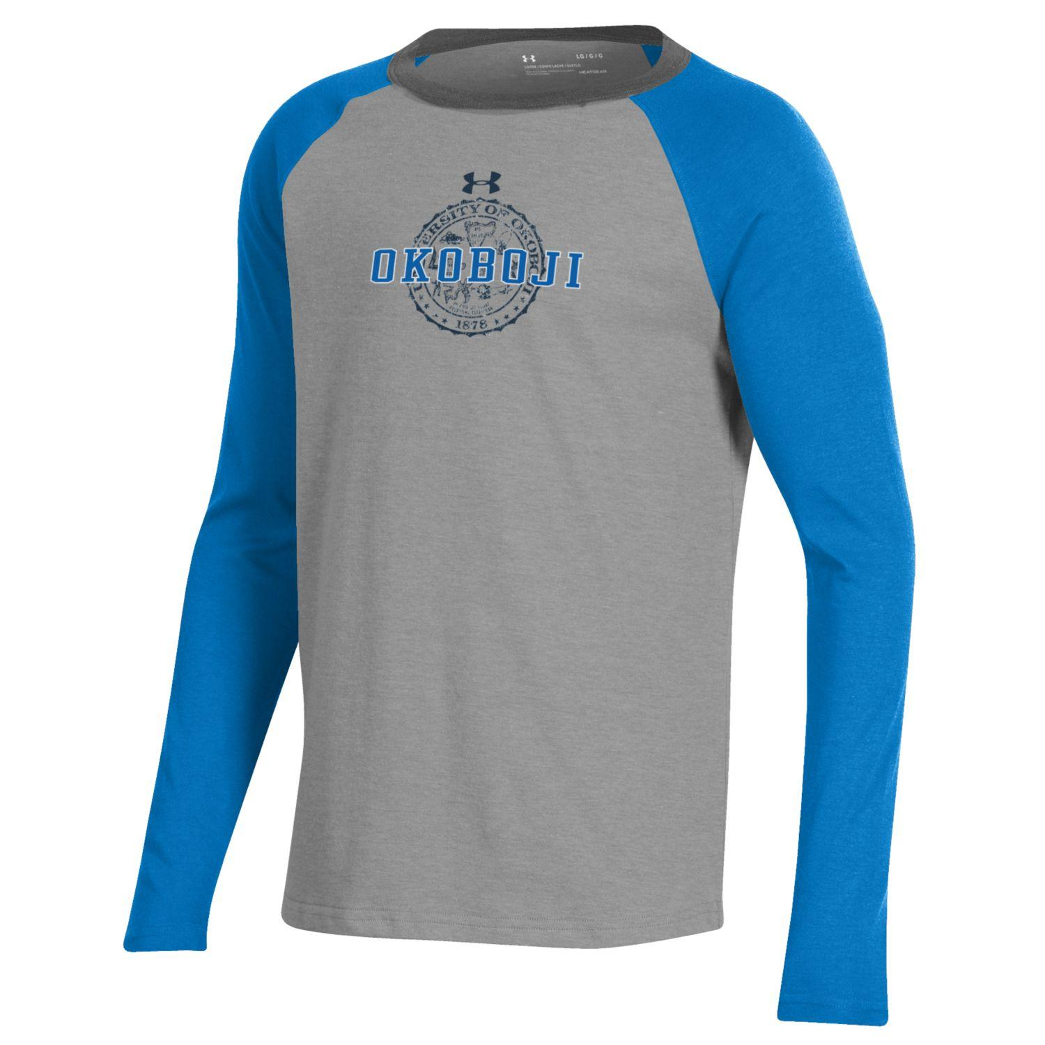 Okoboji Boys Tri-Color Performance Cotton Baseball Tee - Powder Keg