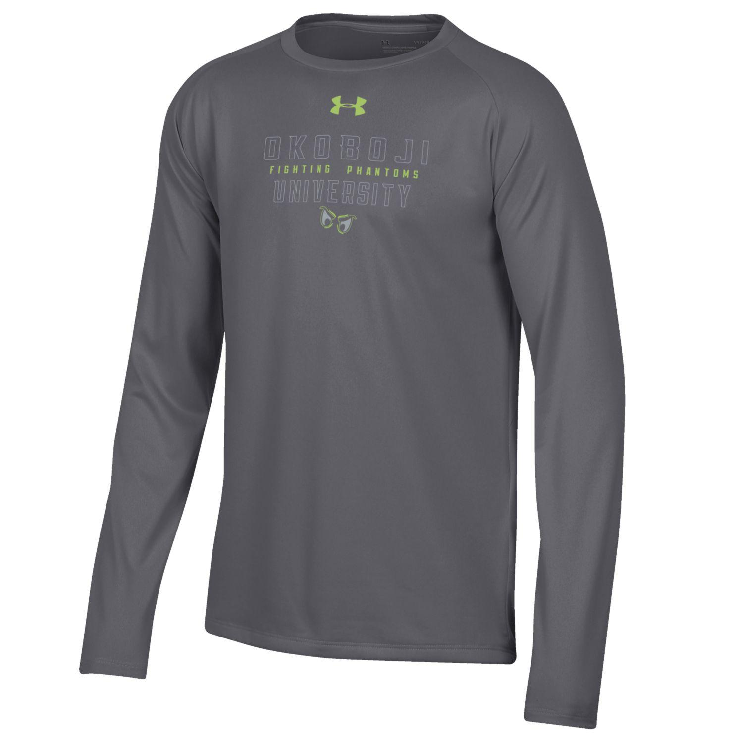 Okoboji Phantom Boys Tech Long Sleeve Tee - Carbon Heather