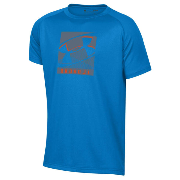 Okoboji Boys Tech SS Tee - Powder Keg Blue