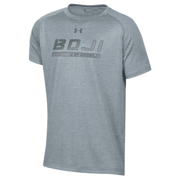 Okoboji Boys Tech SS Tee - True Gray Heather