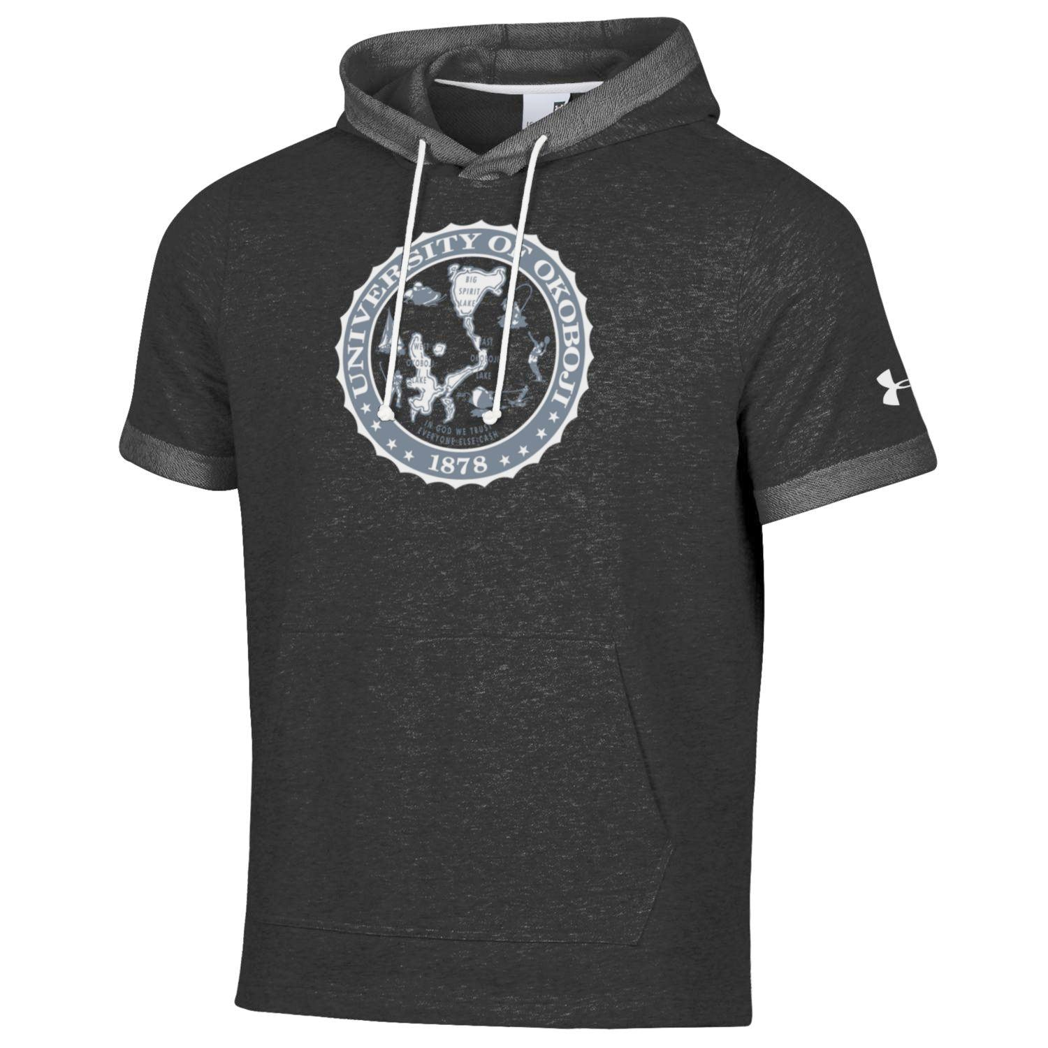 Okoboji Sportstyle Terry Short Sleeve Hood - Black Rock