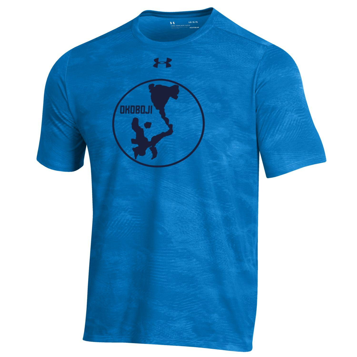 Okoboji Tech Helix Wetprint Tee - Powder Keg Blue