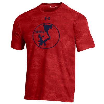 Okoboji Tech Helix Wetprint Tee - Flawless Red