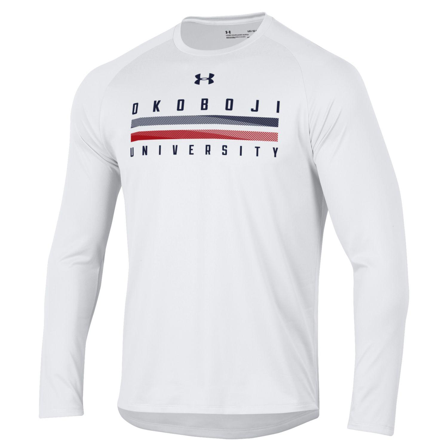 Okoboji University Tech Long Sleeve Tee - White