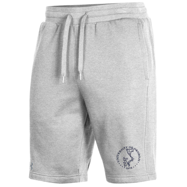 OKOBOJI Mens All Day Short - Cotton-Blend Fleece -Silver Heather