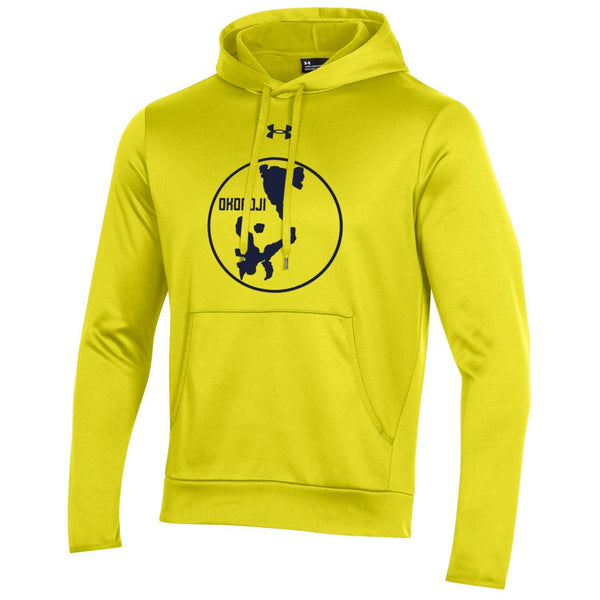 LAKE OKOBOJI ARMOUR FLEECE PULLOVER HOOD - Yellow Ray