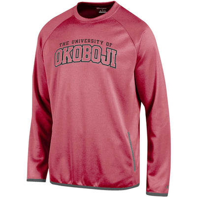 Heathered Red Champion Raglan Crew w/ Gray Trim