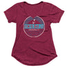Women's Pacific Supply Burnout Tee - Bordeaux Red