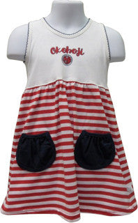 Toddler Girls Red Stripe Dress