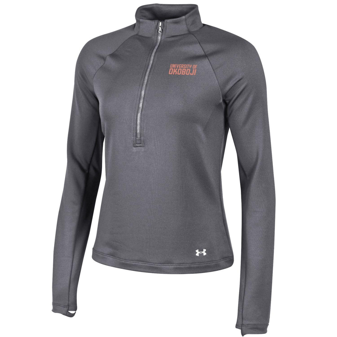 Ladies OKOBOJI Under Armour 1/4 Zip - Gray