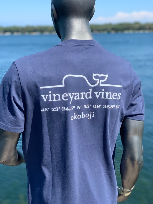 Vineyard Vines Okoboji Short Sleeve / Blazer Blue - Whale Line