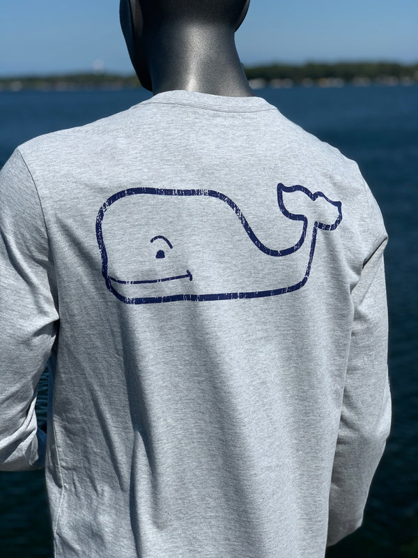 Vineyard Vines Okoboji Long Sleeve / Gray Heather - Vintage Whale