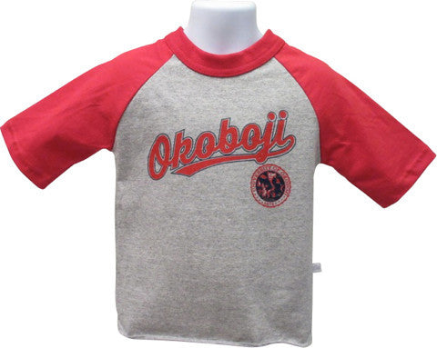 Youth Raglan Red Sleeve Tee