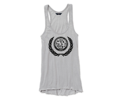 Women's Hi-Lo Tank - Heather Gray