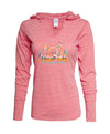 Ladies Lightweight Heathered Hoodie