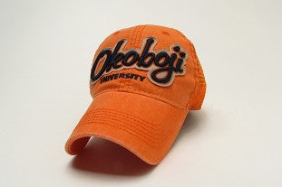Okoboji University Orange Trucker Hat