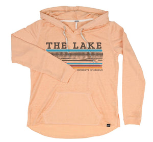 "Women's Super-Soft Lightweight Hoodie ""The Lake"""