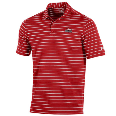 Under Armour Performance Stripe 2.0 Polo - Red