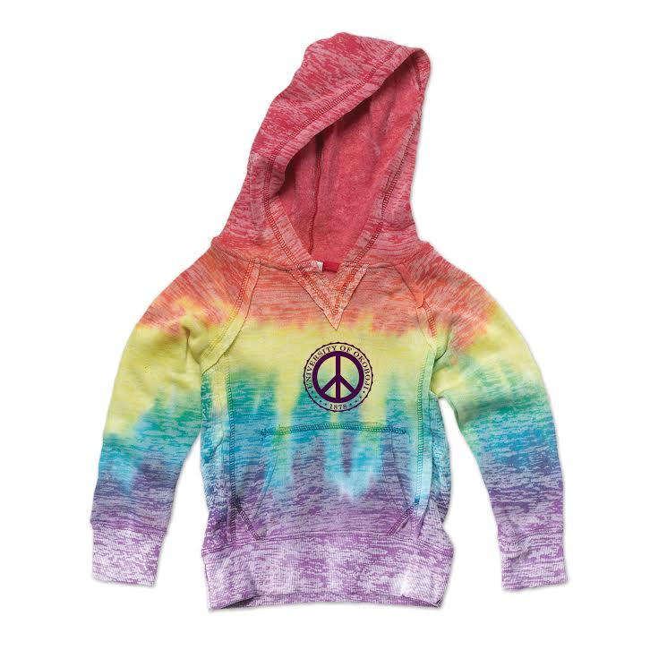 Girls Youth Rainbow Stripe Hooded Sweatshirt