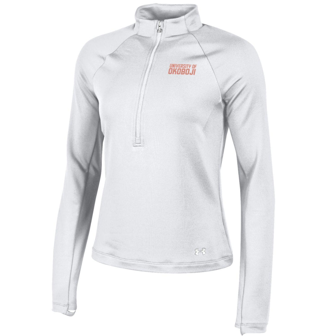 Ladies OKOBOJI Under Armour 1/4 Zip - White