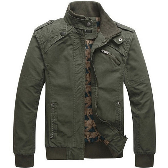 Men jacket Casual cotton washed coats Army Military Outdoors Stand collar Outerwear jaqueta masculina Coat parka mens Jackets